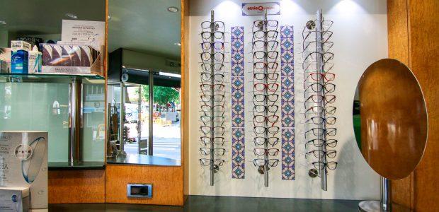 Detall de l'òptica Optic Clínic a Rubí